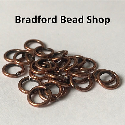 Jump Rings - 6.5mm x 1mm - Copper colour