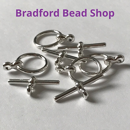T-Bar Clasps - 12mm x 17mm - Silver Plated