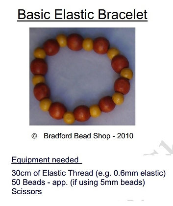 Straight Bead Elastic Bracelet Instructions