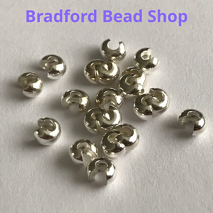 Crimp Bead Cover - Silver Plated