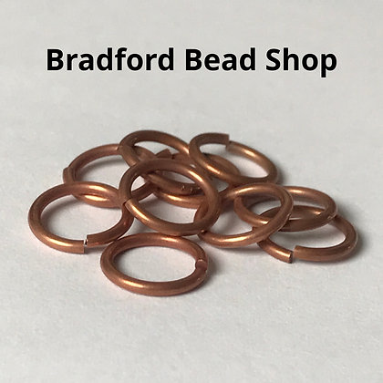 Jump Rings - 10.5mm x 1.2mm - Copper Colour