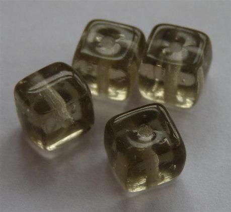Glass Bead - Cubed Light Smokey Grey