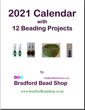 2021 Calendar with  12 Beading Projects - A4