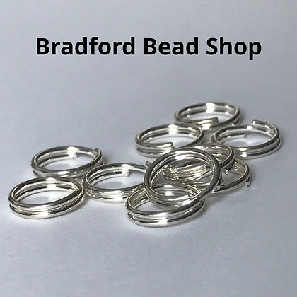 Split Jump Rings (double) - 7mm x 0.7mm - Silver Plated