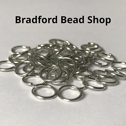 Jump Rings - 8mm x 1mm - Platinum Plated