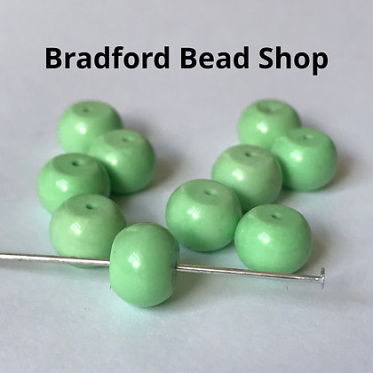 Stabilised Turquoise Beads - 6mm x 8mm