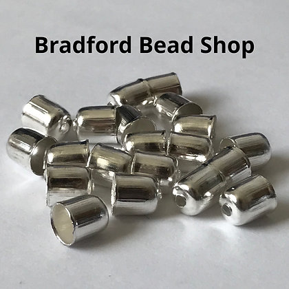 End Cups - 6mm x 5mm - Silver Plated
