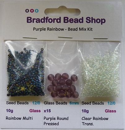Bead Mix Kit - Purple Rainbow