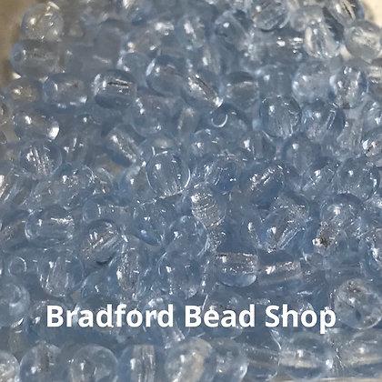 Glass Round Beads - Light Blue Translucent - 3mm