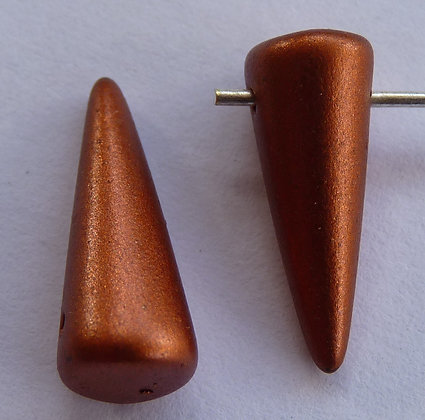 Glass Spike Beads - Copper Matte Opaque