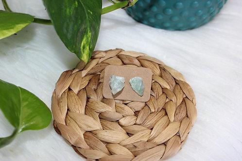 Raw Fluorite Earrings