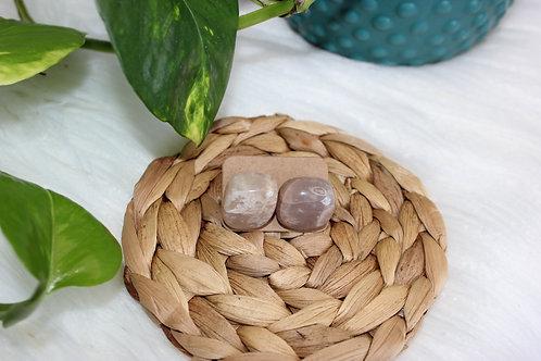 Tumbled Peach Moonstone Earrings