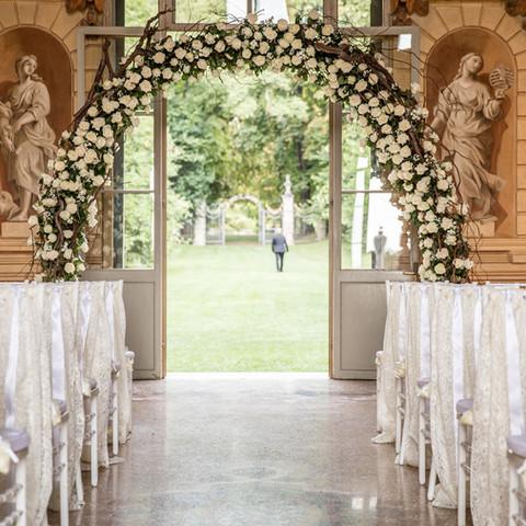 Romantic Ceremony in Villa Mosconi Bertani