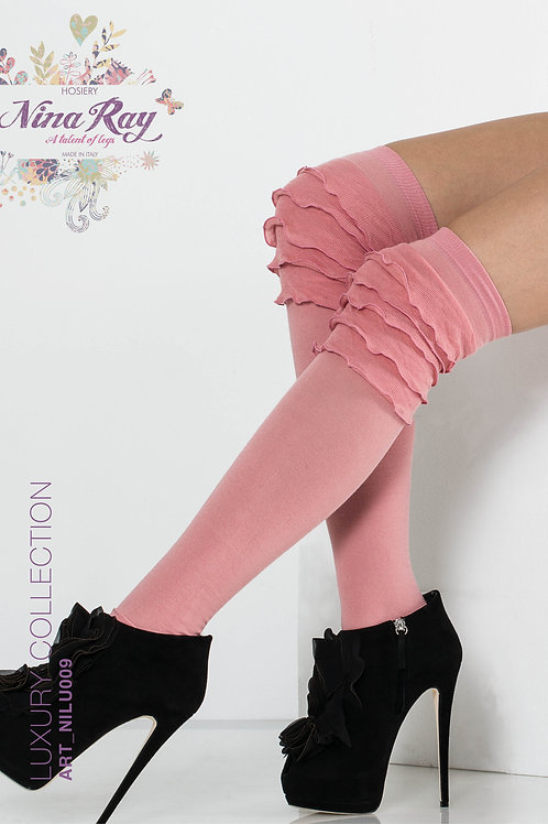 "NILU009 • Cotton ""Volant"" Over Knee highs"
