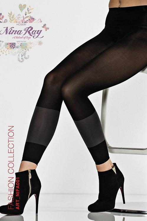 NIFA001 • Mulifiber Color Band Leggings -  50 den