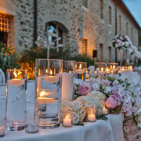 Wedding dinner in maremma