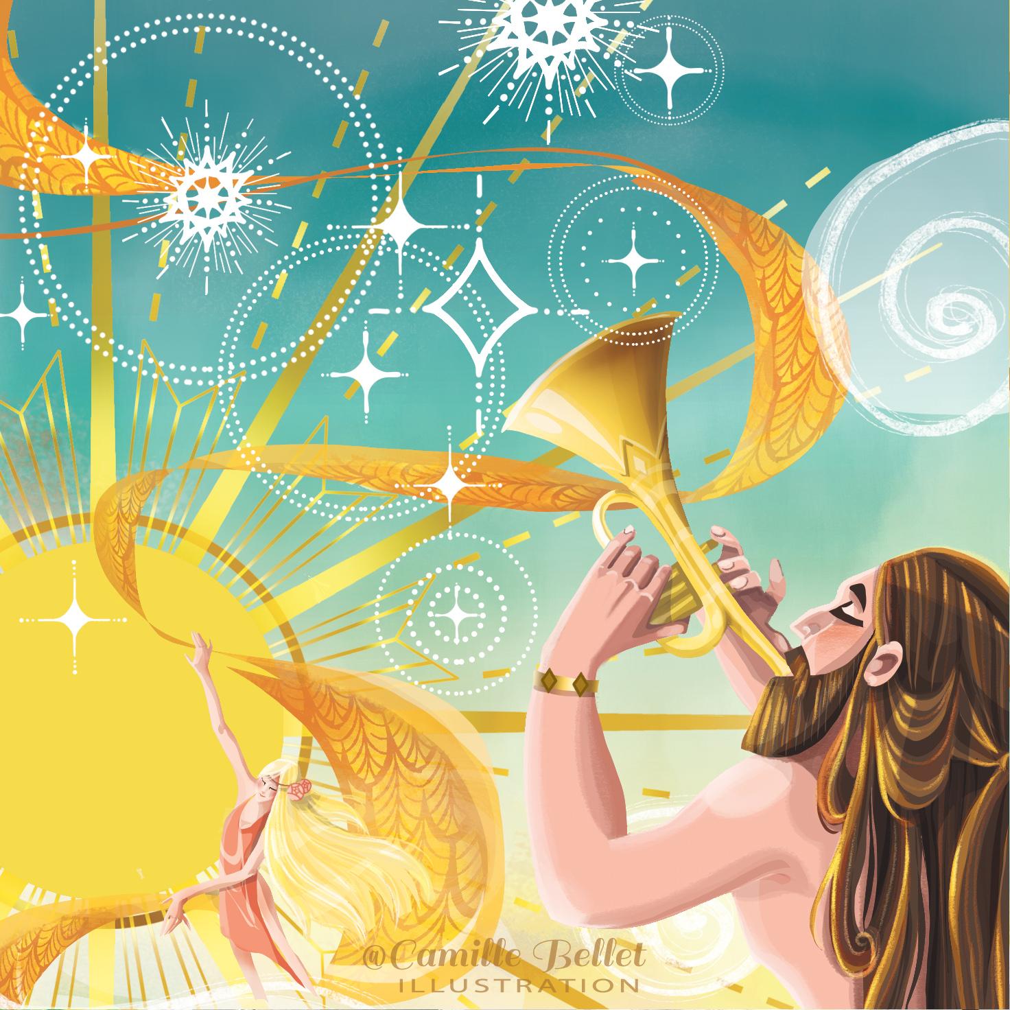 La trompette, La quête du cinquième roya