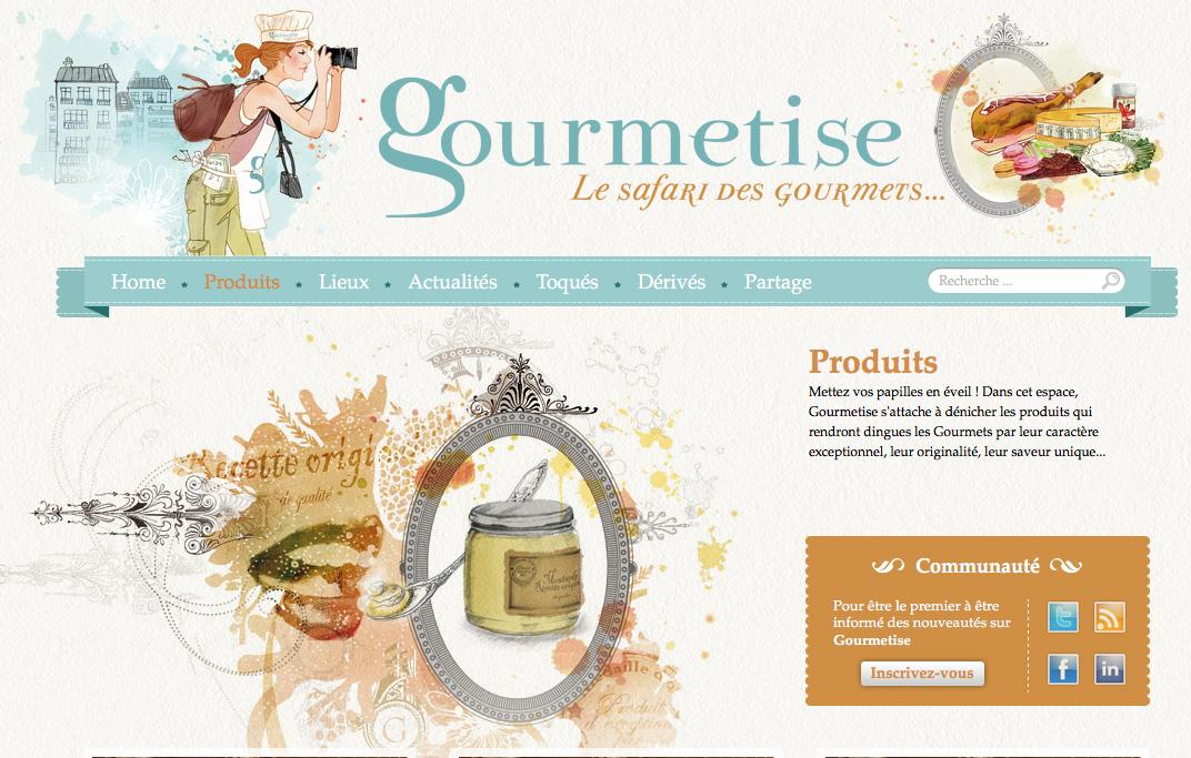 Blog culinaire Gourmetise illustré par camille bellet