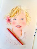 Portrait enfant - Camille Bellet Illustration