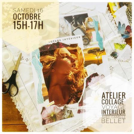 l'Ateliers collage : un voyage intérieur