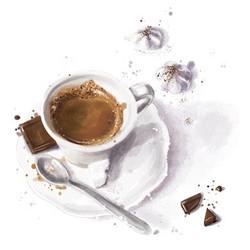 Illustration culinaire -Café