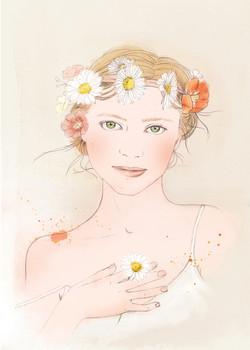 Illustration beauté-Portrait Gratitude - Camille Bellet Illustration