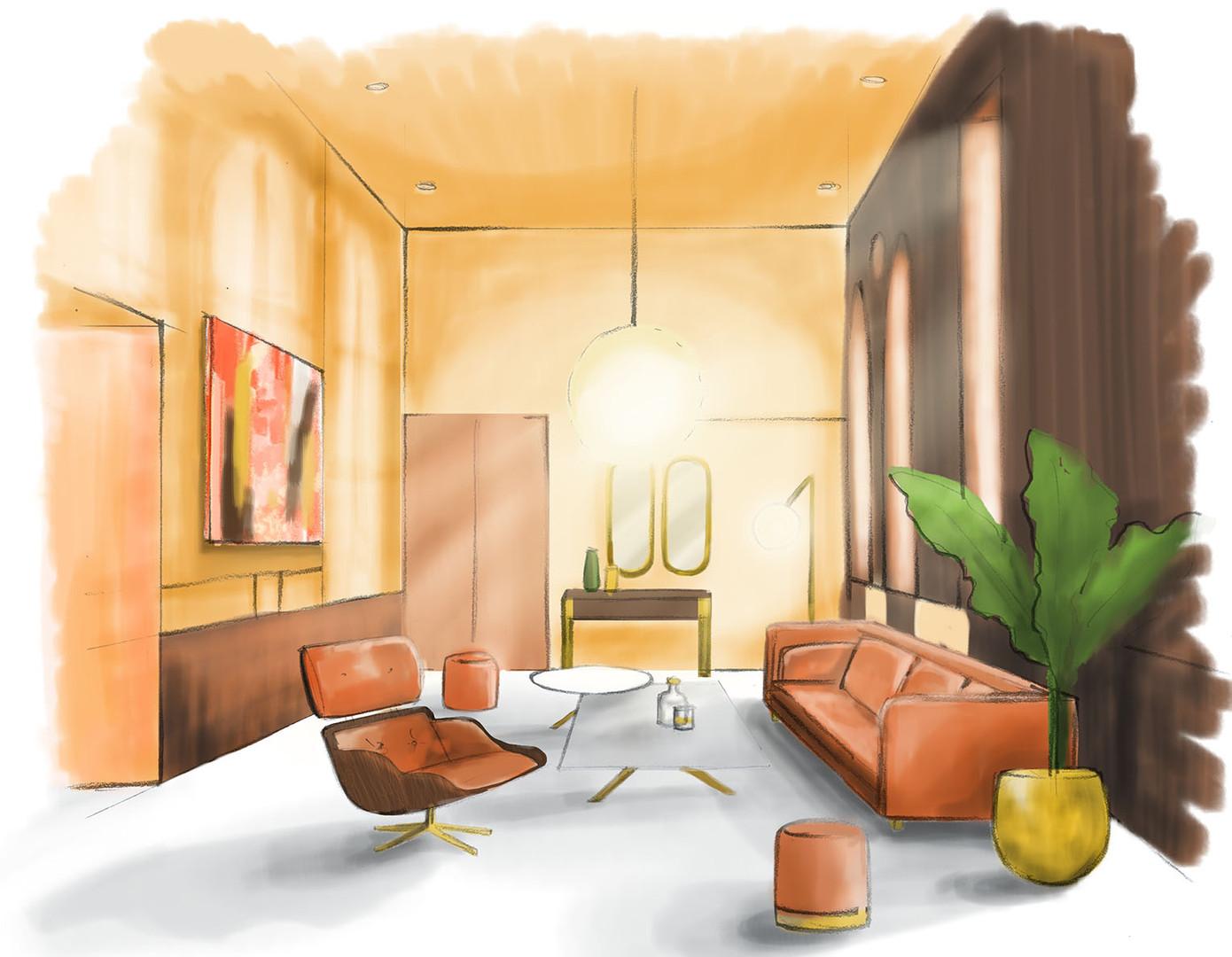 Elegance decoration d'un lounge-balsan