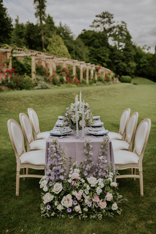 Provencal Outdoor Blue and Lilac Wedding at Marden Park Mansion Surrey