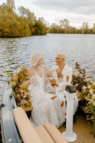 Autumn Same Sex Wedding at Amber Lakes London