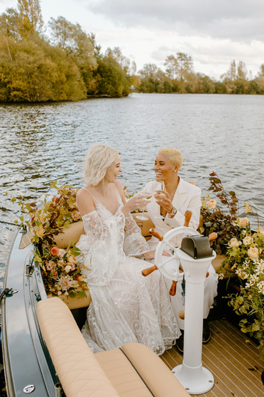 Autumn Same Sex Wedding at Amber Lakes London