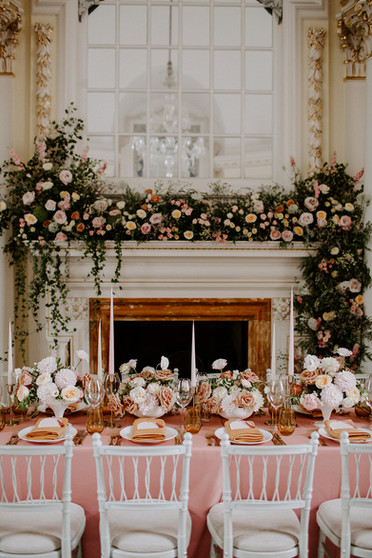 Blush Pink and Mustard Yellow Wedding at BMA House London
