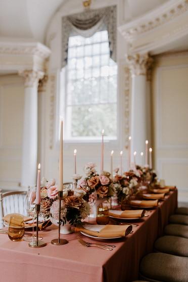 Blush Pink and Mustard Yellow Wedding at BMA House London