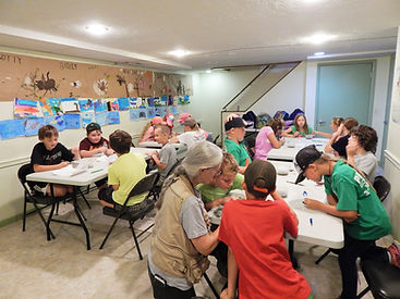 Group of kids creating crafts