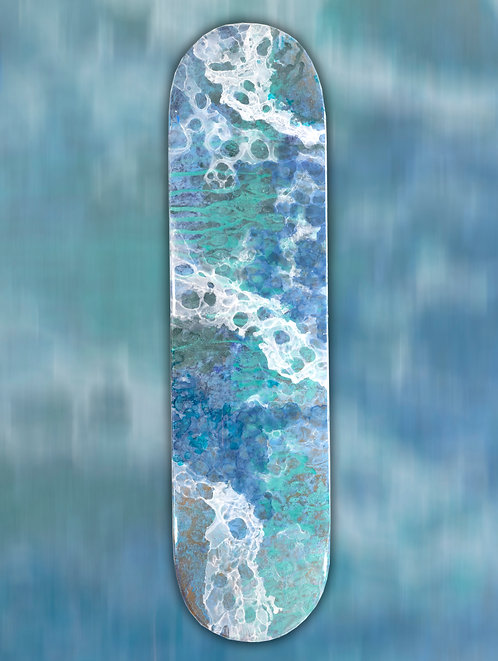 """Recycled Skateboard Art """"Love What You Do"""""""