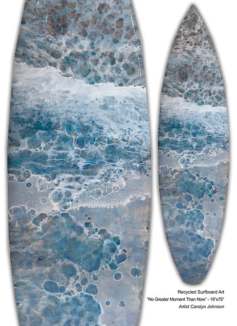 "Recycled Surfboard Art ""No Greater Moment"""