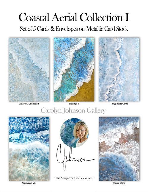 Coastal Aerial Collection I - Card Set of 5