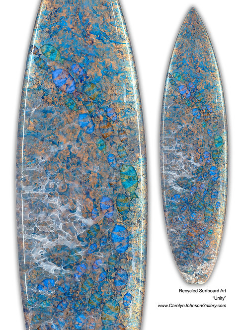 "Recycled Surf Board Art ""Unity"""