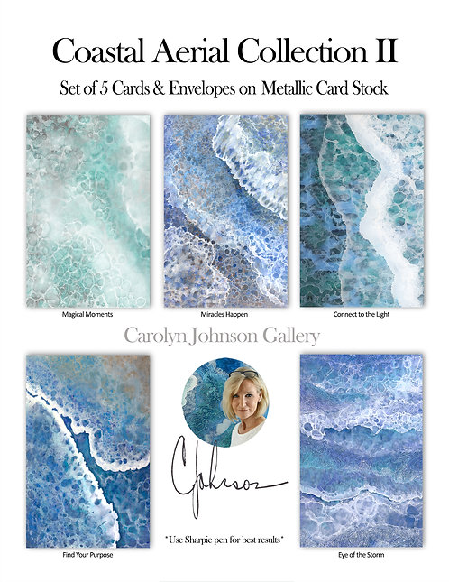 Coastal Aerial Collection II - Card Set of 5