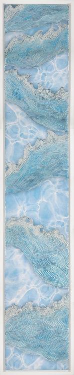 Coastal Aerial #34 -9x48 framed