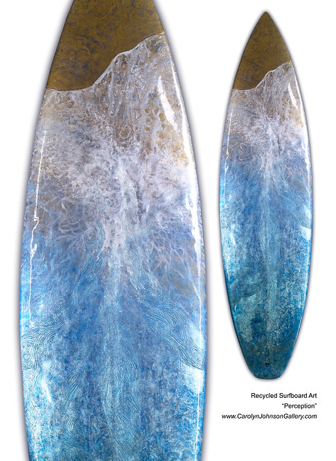 """Recycled Surfboard     """"Perception"""""""