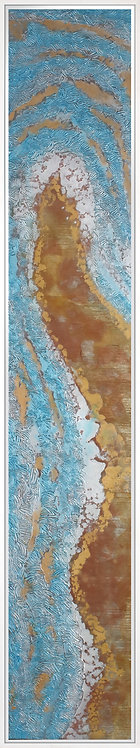Coastal Aerial #9 -9x47 framed