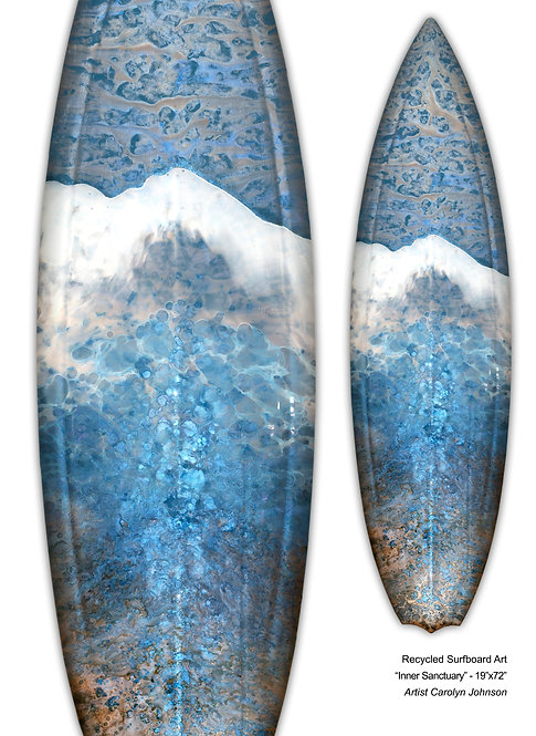 "Recycled Surfboard Art ""My Inner Santuary"""