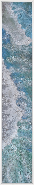 Coastal Aerial #8 -9x48 framed