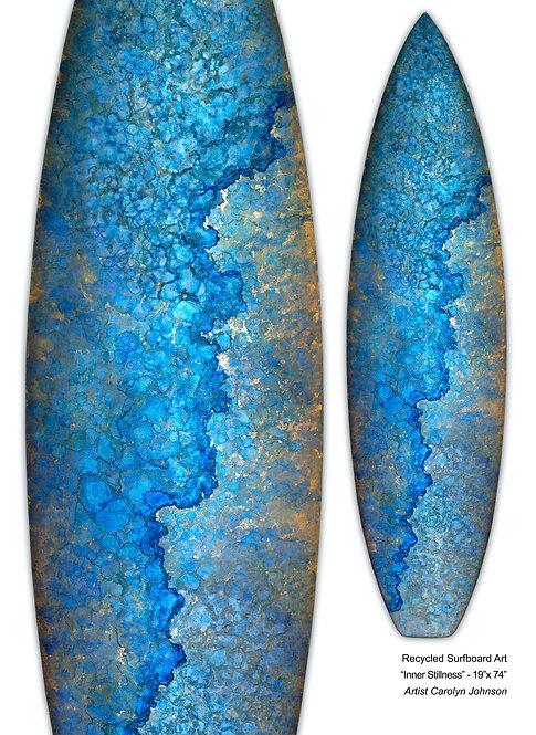 """Recycled Surfboard Art """"Inner Stillness"""""""