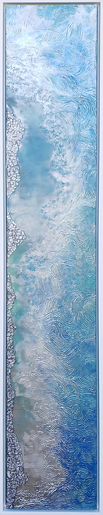 Coastal Aerial #5 -9x48 framed