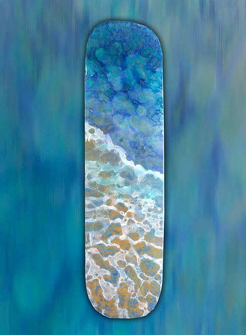 "Recycled Skateboard Art ""Road to Revelation"""