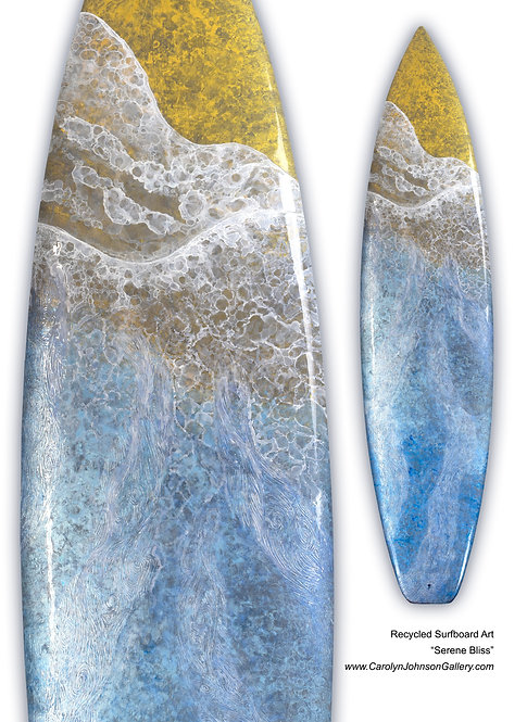 """Recycled Surfboard        """"Serene Bliss"""""""