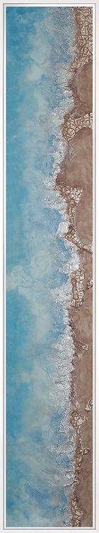 Coastal Aerial #11 -9x48 framed