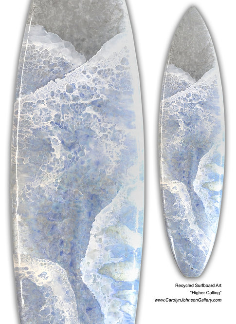 """Recycled Surf Board Art """"Higher Calling"""""""