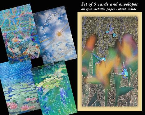 Fine Art Card Set of 5